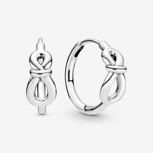 🎆NWT Pandora Infinity Knot Hoop Earrings